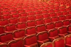 κόκκινες σειρές εδρών Στοκ Εικόνες