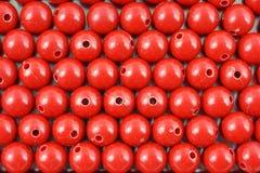 κόκκινες σειρές χαντρών Στοκ Φωτογραφία