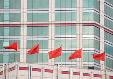 Κόκκινες σημαίες Στοκ Φωτογραφία