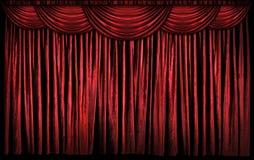 Κόκκινες σκηνικές κουρτίνες στοκ φωτογραφία με δικαίωμα ελεύθερης χρήσης