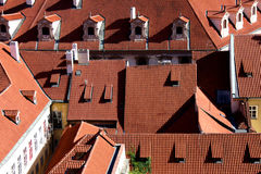 Κόκκινες στέγες της Ευρώπης Στοκ Εικόνα