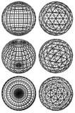 κόκκινες σφαίρες δεικτών δικτυωτού πλέγματος κρυστάλλου κατευθυντικές Στοκ Φωτογραφίες