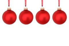 Κόκκινες σφαίρες Χριστουγέννων Στοκ εικόνες με δικαίωμα ελεύθερης χρήσης