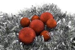 Κόκκινες σφαίρες Χριστουγέννων Στοκ Εικόνες