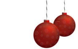Κόκκινες σφαίρες Χριστουγέννων Στοκ Φωτογραφία