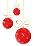 Κόκκινες σφαίρες Χριστουγέννων Ελεύθερη απεικόνιση δικαιώματος