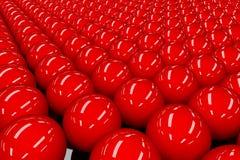 Κόκκινες σφαίρες Στοκ εικόνα με δικαίωμα ελεύθερης χρήσης