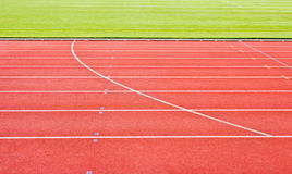 κόκκινες τρέχοντας διαδρομές Στοκ Εικόνα