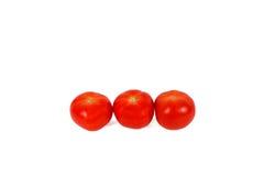 κόκκινες τρεις ντομάτες στοκ εικόνα με δικαίωμα ελεύθερης χρήσης