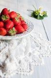 Κόκκινες φράουλες Στοκ Εικόνα