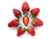 κόκκινες φράουλες Στοκ Εικόνες