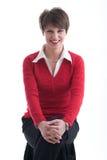 κόκκινες χαμογελώντας ν& Στοκ Εικόνα
