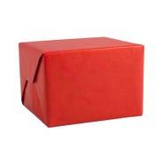 Κόκκινες χειρωνακτικές κατευθύνσεις πτυχών τεχνών κιβωτίων δώρων που απομονώνονται στοκ φωτογραφία