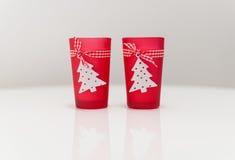Κόκκινες διακοσμήσεις Χριστουγέννων Στοκ Εικόνα