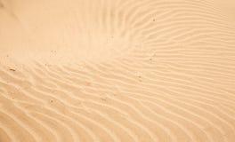 κόκκινη άμμος κυματώσεων προτύπων αμμόλοφων κινηματογραφήσεων σε πρώτο πλάνο Στοκ εικόνες με δικαίωμα ελεύθερης χρήσης