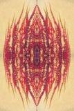 Κόκκινη άμπελος στο σχέδιο τοίχων Στοκ Εικόνες