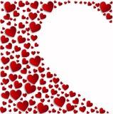 Κόκκινη άσπρη καρδιά καρδιών κατά το ήμισυ Στοκ φωτογραφία με δικαίωμα ελεύθερης χρήσης