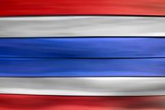 Κόκκινη άσπρη μπλε σημαία της Ταϊλάνδης στο ξύλινο υπόβαθρο φύλλων Στοκ Φωτογραφίες