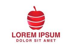Κόκκινη έμπνευση σχεδίων λογότυπων της Apple, διανυσματική απεικόνιση απεικόνιση αποθεμάτων