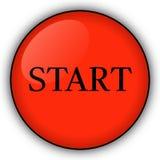 κόκκινη έναρξη κουμπιών Στοκ Εικόνα