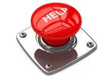 Κόκκινη έννοια κουμπιών βοήθειας Στοκ Εικόνες