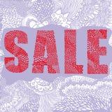 Κόκκινη λέξη πώλησης Στοκ Φωτογραφία