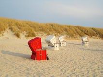 Κόκκινη έδρα παραλιών Στοκ Φωτογραφίες