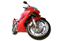 Κόκκινη αθλητική μοτοσικλέτα Στοκ Φωτογραφίες