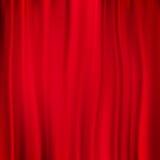 Κόκκινη ανασκόπηση κουρτινών 10 eps Στοκ Εικόνες