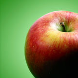 Κόκκινη ανασκόπηση μήλων Στοκ Εικόνα