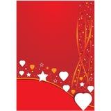 Κόκκινη ανασκόπηση με την καρδιά Στοκ εικόνα με δικαίωμα ελεύθερης χρήσης