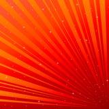 Κόκκινη ανασκόπηση με τον αστερίσκο Στοκ Φωτογραφίες