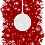 Κόκκινη ανασκόπηση Χριστουγέννων Στοκ Εικόνα