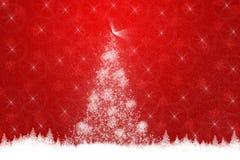 Κόκκινη ανασκόπηση Χριστουγέννων Στοκ Εικόνες