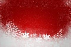 Κόκκινη ανασκόπηση Χριστουγέννων Στοκ φωτογραφίες με δικαίωμα ελεύθερης χρήσης