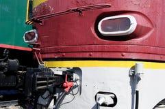 Κόκκινη ατμομηχανή Στοκ Φωτογραφία