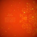 Κόκκινη αφηρημένη ανασκόπηση λουλουδιών Στοκ Εικόνα