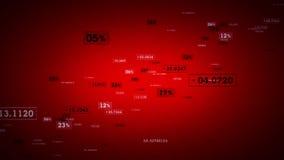 Κόκκινη αύξηση συνδέσεων δικτύων απεικόνιση αποθεμάτων