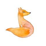 Κόκκινη αλεπού σε ένα άσπρο υπόβαθρο Στοκ Φωτογραφία