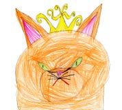 Κόκκινη βασίλισσα γατών γιος πατέρων σχεδίων Στοκ εικόνα με δικαίωμα ελεύθερης χρήσης