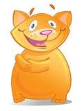 Κόκκινη γάτα κινούμενων σχεδίων Στοκ εικόνα με δικαίωμα ελεύθερης χρήσης