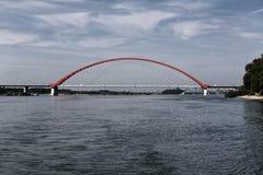 Κόκκινη γέφυρα στοκ φωτογραφίες με δικαίωμα ελεύθερης χρήσης
