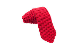 Κόκκινη γραβάτα νημάτων Στοκ εικόνες με δικαίωμα ελεύθερης χρήσης