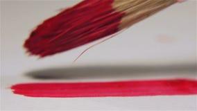 Κόκκινη γραμμή ζωγραφικής απόθεμα βίντεο