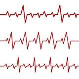 Κόκκινη γραμμή κτύπου της καρδιάς, ekg, καρδιο γραμμή, διανυσματική απεικόνιση αποθεμάτων διανυσματική απεικόνιση