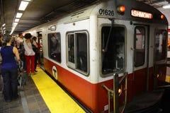 Κόκκινη γραμμή μετρό της Βοστώνης, Μασαχουσέτη, ΗΠΑ Στοκ φωτογραφία με δικαίωμα ελεύθερης χρήσης