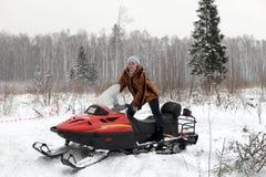 κόκκινη γυναίκα οχημάτων γ& Στοκ Εικόνες