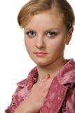 κόκκινη γυναίκα πορτρέτο&upsil στοκ εικόνα