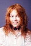 κόκκινη γυναίκα πορτρέτο&upsil Στοκ Φωτογραφία