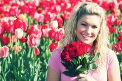 κόκκινη γυναίκα τριαντάφυ&l στοκ φωτογραφία με δικαίωμα ελεύθερης χρήσης